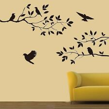 US Removable Black Birds Tree Branches Vinyl Art Wall Sticker Home Decals Decor