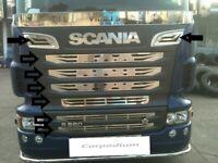 SCANIA 2009 - 2016 CHROME FRONT GRILLS ''truck model custom production'' 9 Pcs.