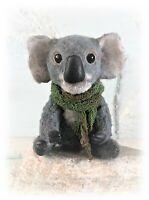 """3 1/2"""" Faux Fur Little Koala Bear OOAK Artist Antiqued Bear OOAK Boulter Bears"""