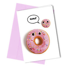 #95 The Lost Donut BIRTHDAY or MOTHERS DAY Card Funny Humour Rude Joke