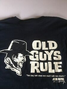 OLD GUYS RULE BRAND NEW MENS XXL JOHN WAYNE T SHIRT.