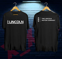 THE LINCOLN MOTOR COMPANY Logo Men's Black White T-Shirt Size S-2XL #100