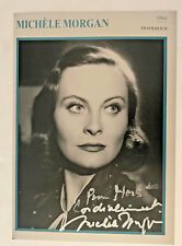 Michele Morgan - Film -  original Autogramme - Größe - 18 x 12  cm