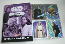 Topps Star Wars factfiles sticker Jedi-album + todos 84 sticker
