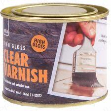 180ml INTERIOR/EXTERIOR CLEAR VARNISH High Gloss Wood Floor Door Furniture Stain