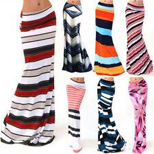 Womens Long Floral Stretch Skirt Full Length Dress Evening Party Maxi Tube Skirt