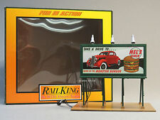 MTH RAIL KING LIGHTED MEL'S DINER BILLBOARD scenery train O GAUGE 30-90529 NEW