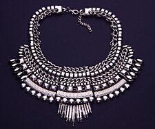 Oscuro Plateado Metal & Joya Masai tribu Adj distintivo collar inspirado (CL31) TR