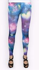 Galaxy Leggings, One Size UK 8-12 New, With Spandex, Very Colourful, Deep Space