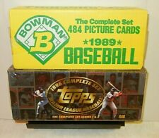 1996 Topps & 1989 BOWMAN Factory-Sealed Sets TOPPS-440 (Mantle) BOWMAN-484 cards