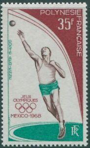 French Polynesia 1968 SG90 35f Olympics shotput MLH