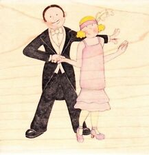 20'S COUPLE - Jolly Nation Wood Mounted Rubber Stamp