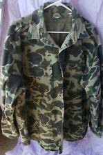 Cabela's Long Sleeve Thick Stiff Cotton Camo Button Down Shirt - Men's 2XL