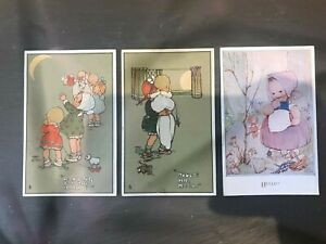 3 x Vintage Postcard Mabel Lucie Attwell Early Rare Postcards Boo Boo