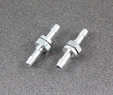 2pcs M6 Aluminum RC Boat Water Outlet, nozzle connector (ø3mm) Silver 038-02702A