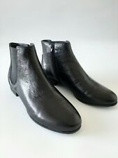 Wittner Daley Black Leather Boots Size 41 New