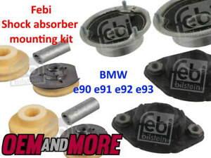FEBI SHOCK ABSORBER FRONT & REAR MOUNTING SET BMW 3 SERIES E90 E91 E92 E93