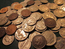 Old U.S Coins Iconic Set Buffalo, Indian Cent,Mecury Head Silver Dime.