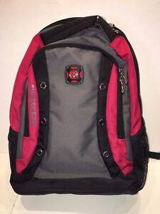 NWOT- Swiss Gear Backpack w/ Laptop Carrier - Gray,Black,Red