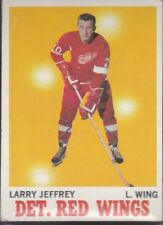 1970-71 TOPPS HOCKEY LARRY JEFFREY #28 RED WINGS EX *59503