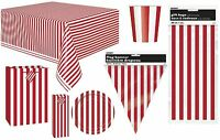 RUBY RED STRIPES Tableware, Decorations, Balloons & Party Items Range