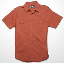 Hause of Howe Ballad of Love Short Sleeve Woven Shirt (M) Orange Dust