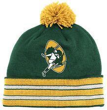 NFL Mitchell and Ness Green Bay Packers Throwback Pom Cuffed Knit Hat Beanie Cap