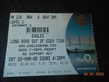 Ticket Stub-The Eagles(Long Road Out Of Eden Tour) 2008