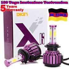 980W 98000lm H7 LED DRL Auto-Scheinwerfer-Kit 4-seitig Lampen hohes Abblendlicht