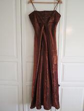 Morgan & Co Formal Evening/Prom Long Dress UK 12/ 14 Shimmering Bronze