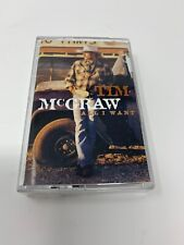 All I Want by Tim McGraw Cassette Tape 1995  Curb  Tested In case with art RARE