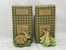 2 Avon Marjolein Bastin Magnet Collection Bunny w/Baby 1998 New Original Boxes