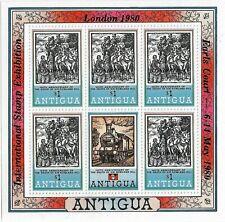 Antigua London 1980 Overprint $1 MNH Sheetlet