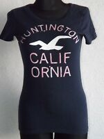 Hollister California womens cotton short sleeve dark blue T-shirt size M