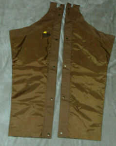 Browning Pheasants Forever Chaps Cotton Nylon Trim Hunting Covering~Regular