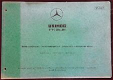 Mercedes Unimog Type OM 314 Motor-Ersatzteilliste
