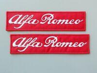 PATCH ALFA ROMEO ROSSO RICAMATO BIANCO N.2 TERMOADESIVO CM.12X3-COD.722
