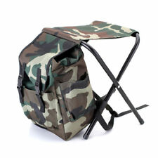 Foldable Fishing Backpack Chair Stool Travel Camping Hiking Multi-Function Bag