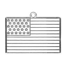 American Flag Ornament Paintable Suncatcher Sun Catcher Paint Your Own