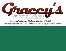 -Sherwood Green- Gracey's Vintage Finishes Nitrocellulose Guitar Lacquer.