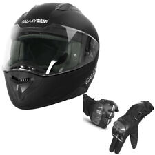 Galaxyman Dot Approved Motorcycle Full Face Street Helmet + Touch Screen Gloves