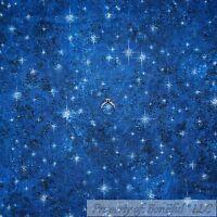BonEful Fabric FQ Cotton Quilt Navy Blue Dark Night Sky White Star Super Hero US