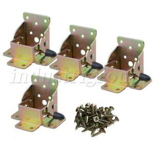 4P Iron Folding Table Leg Brackets Fittings Self Lock 90 Degrees Foldable Hinge