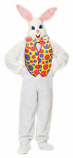 Bunny Deluxe with Vest Adult Costume White Rabbit Easter Mascot Halloween