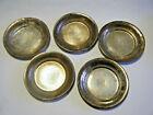 5 Plain Vtg Victorian  2 3 4  D Sterling Butter Pat Open Salt Nut Dish  M  Mono