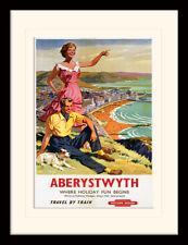 Aberystwyth Where Holiday Fun Begins Framed & Mounted Print