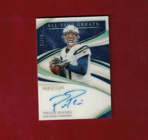 2020 PANINI IMMACULATE Philip Rivers ALL TIME GREATS AUTOGRAPH AUTO SP Card /15