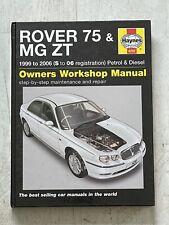 Haynes Manual 4292 - Rover 75 & MG ZT, 1999 to 2006, petrol & diesel