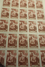 FEUILLE SHEET TIMBRE GLOIRE INFANTERIE N°386 x25 1938 NEUF ** LUXE MNH COTE 270€