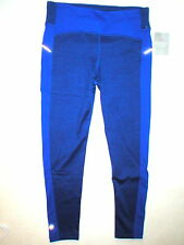 Womens Athleta NWT New Warm Reflective Power Lift Tight Pants Winter M Blue Zip